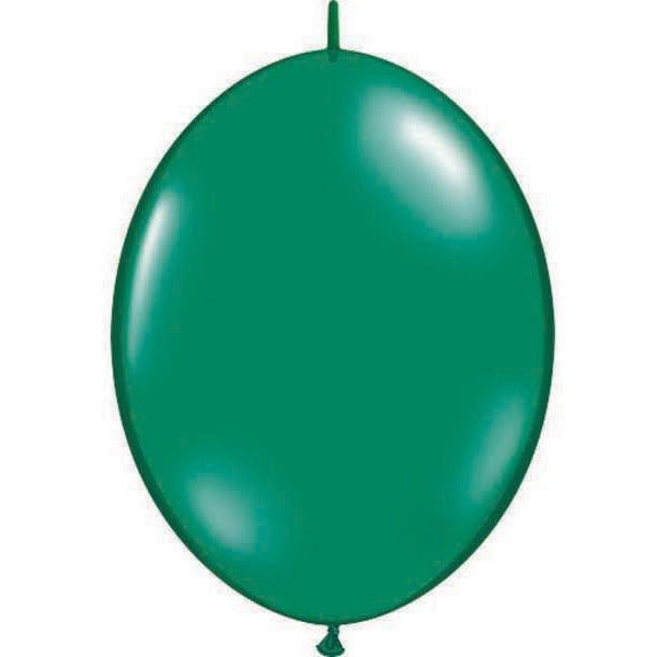 15cm Quick Link Emerald Green Qualatex Quick Link Balloons #90377 - Pack of 50 SPECIAL ORDER ITEM