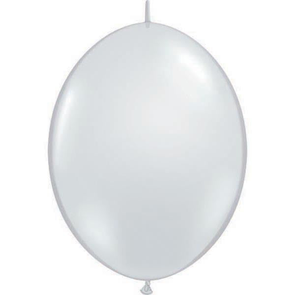 15cm Quick Link Diamond Clear Qualatex Quick Link Balloons #90382 - Pack of 50 SPECIAL ORDER ITEM