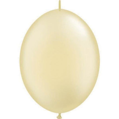15cm Quick Link Pearl Ivory Qualatex Quick Link Balloons #90478 - Pack of 50 SPECIAL ORDER ITEM