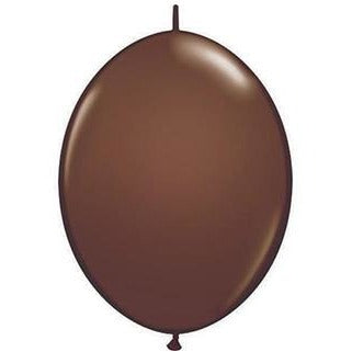 15cm Quick Link Chocolate Brown Qualatex Quick Link Balloons #90492 - Pack of 50 SPECIAL ORDER ITEM