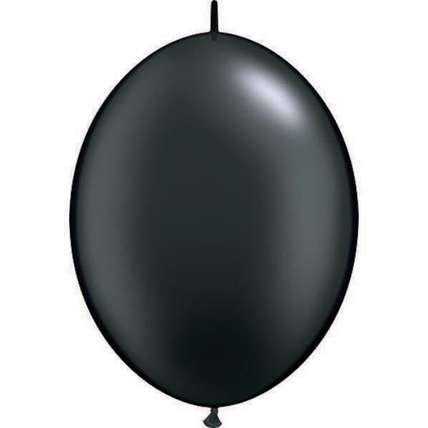 15cm Quick Link Pearl Onyx Blk Qualatex Quick Link Balloons #90538 - Pack of 50 SPECIAL ORDER ITEM