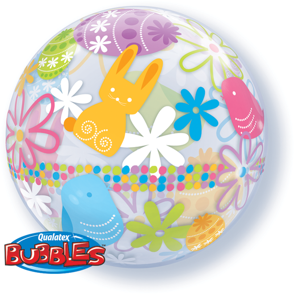 56cm Single Bubble Spring Bunnies & Flowers #90595 - Each SPECIAL ORDER ITEM