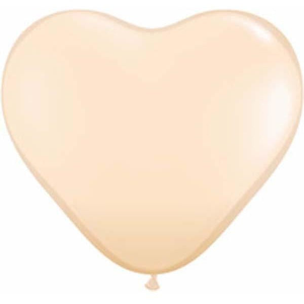 15cm Heart Blush Qualatex Plain Latex #92526 - Pack of 100 SPECIAL ORDER ITEM