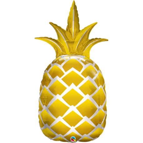 Shape Foil Golden Pineapple 110cm #57362- Each SW (Pkgd.)