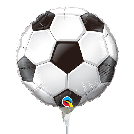 22cm Round Foil Soccer Ball #98439 - Each (Inflated, supplied air-filled on stick)