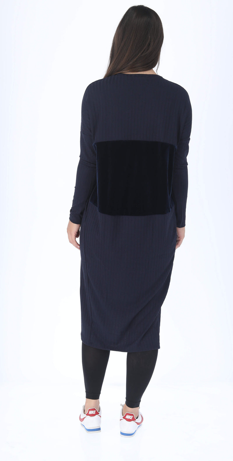 Velvet Ribbed Square Drees