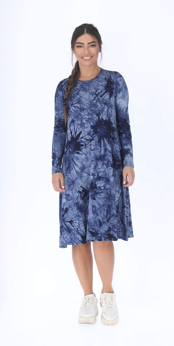 Collection Dress / Navy Tie Dye