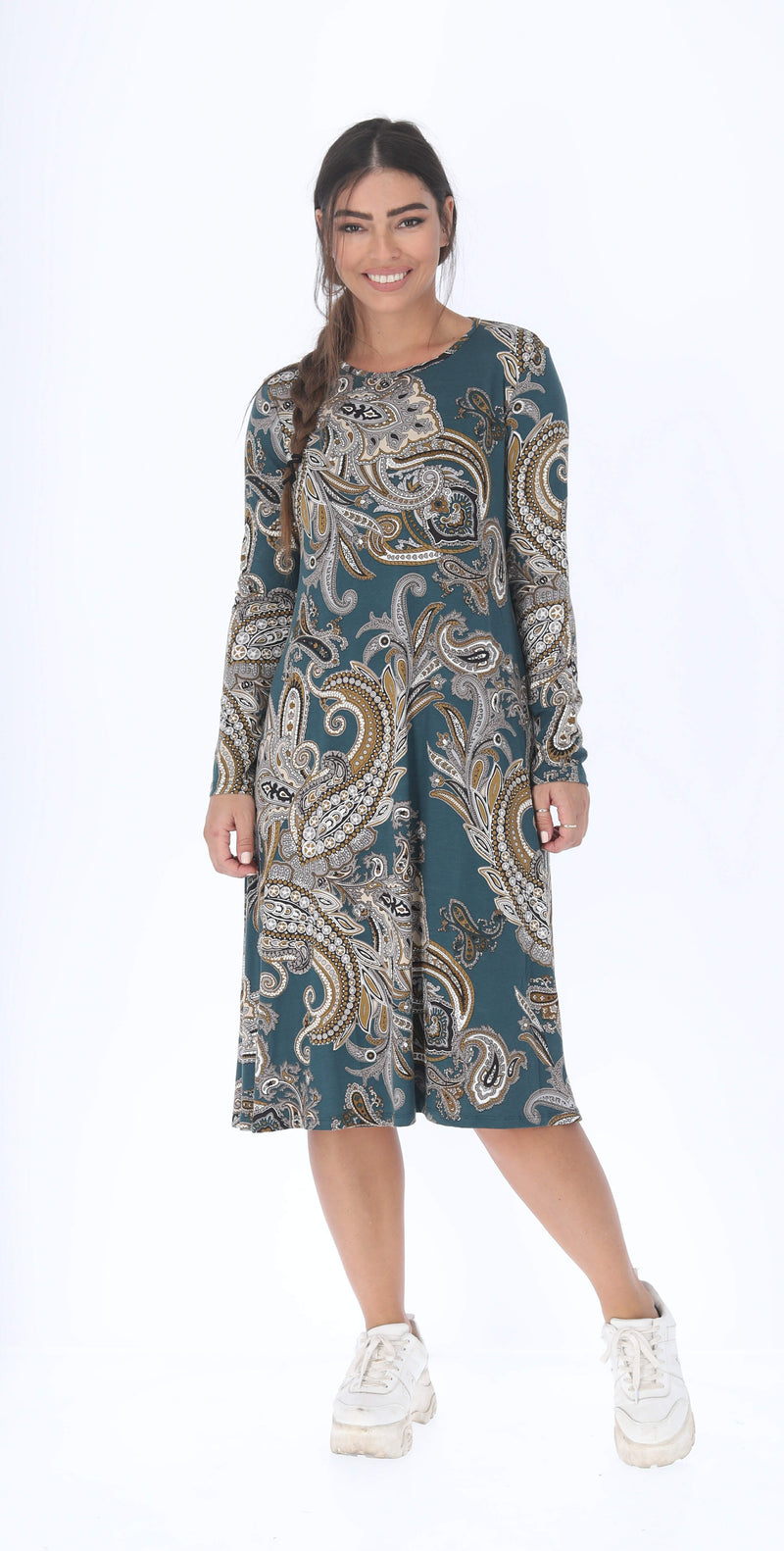 Collection Dress / Green Paisley