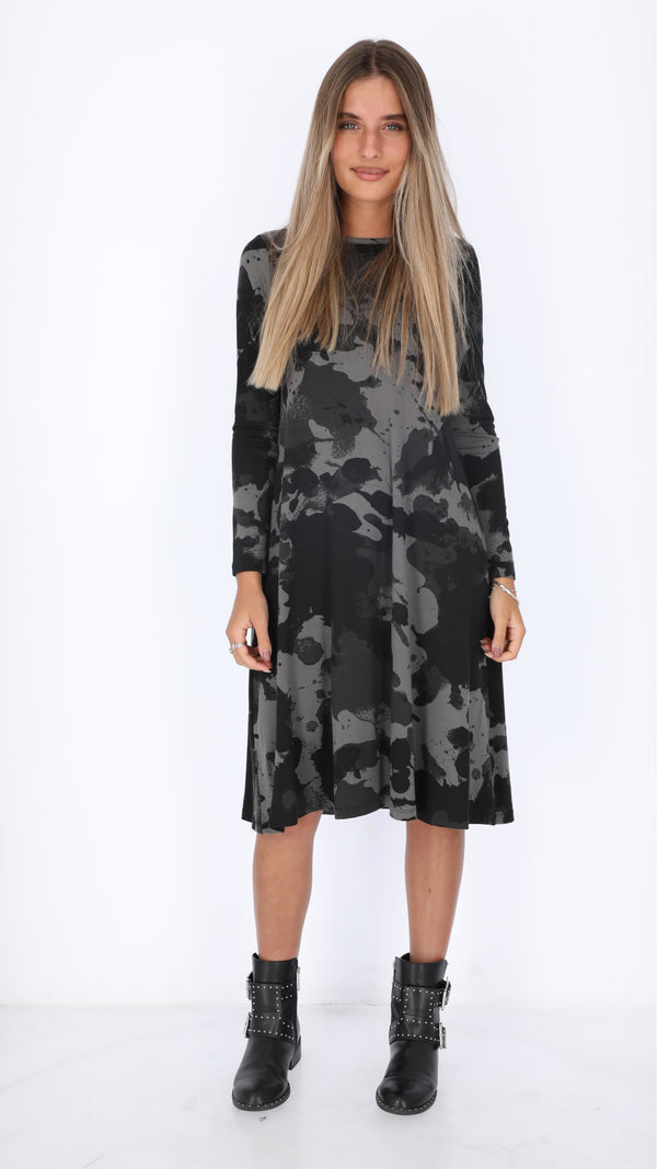 Collection Dress / Grey Tie Dye