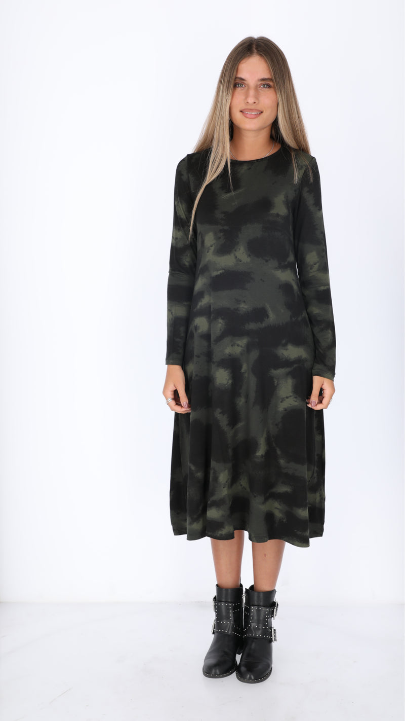 Collection Dress / Olive Tie Dye