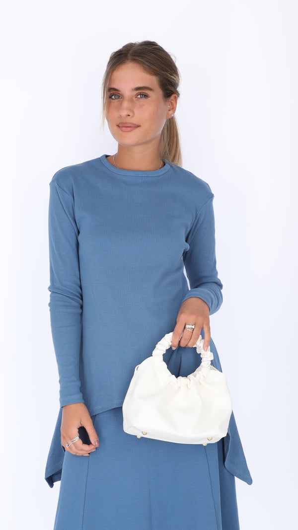 Asymmetric Ribbed T-shirt