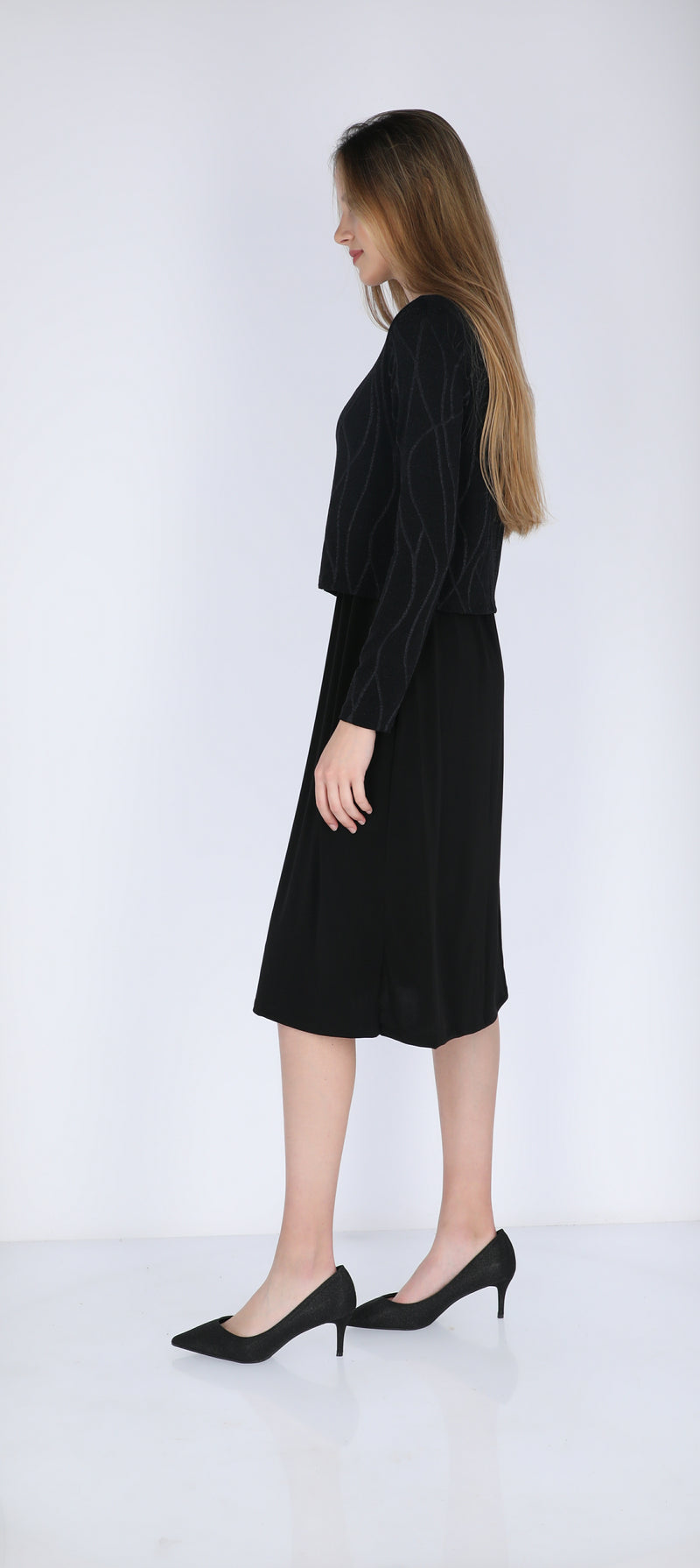 Shine Nursing Dress / Zig Zag