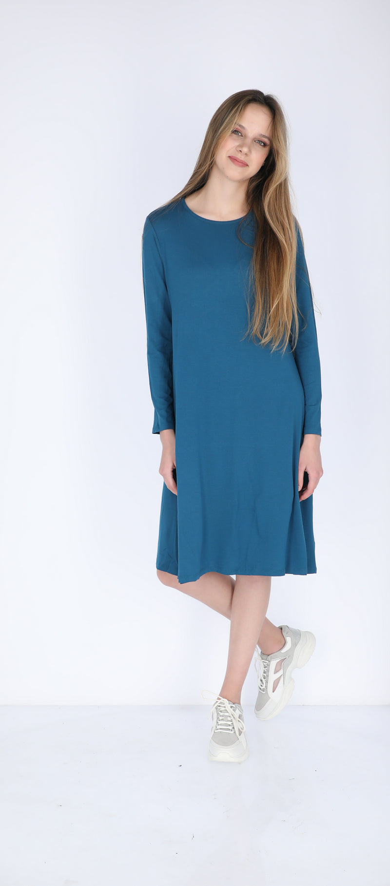 A-line Solid Dress (more colors available)