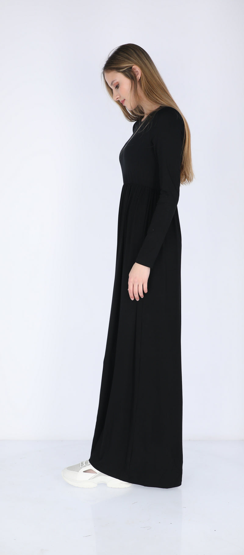 Belted Solid Maxi Dresses