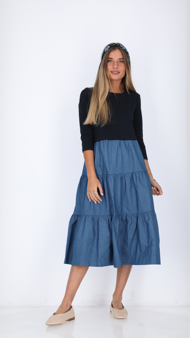 Cotton Layers Dress / Jeans
