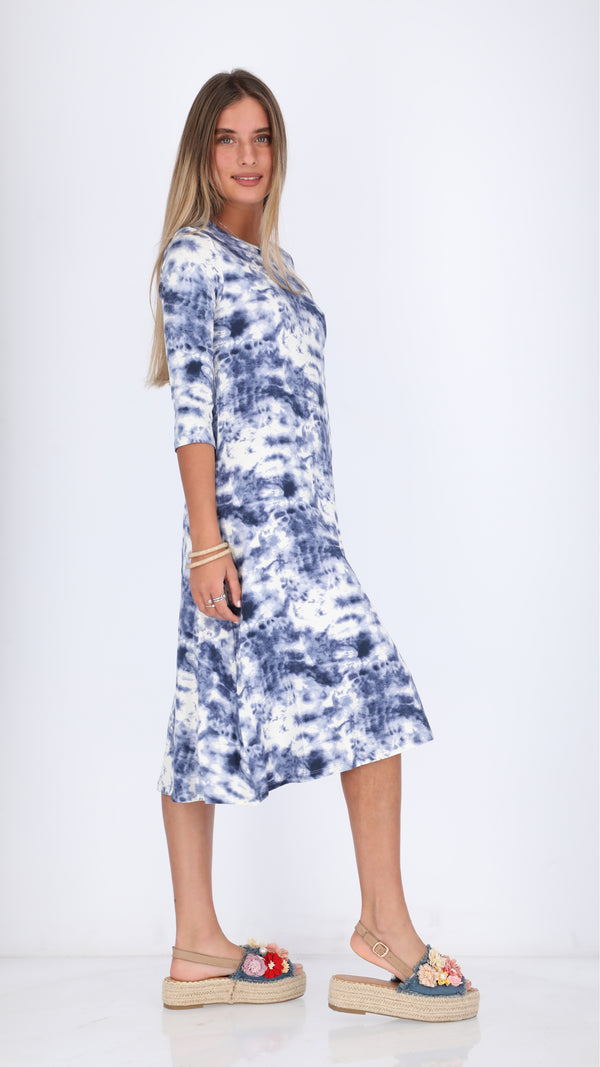 Collection Dress / Blue Tie Dye