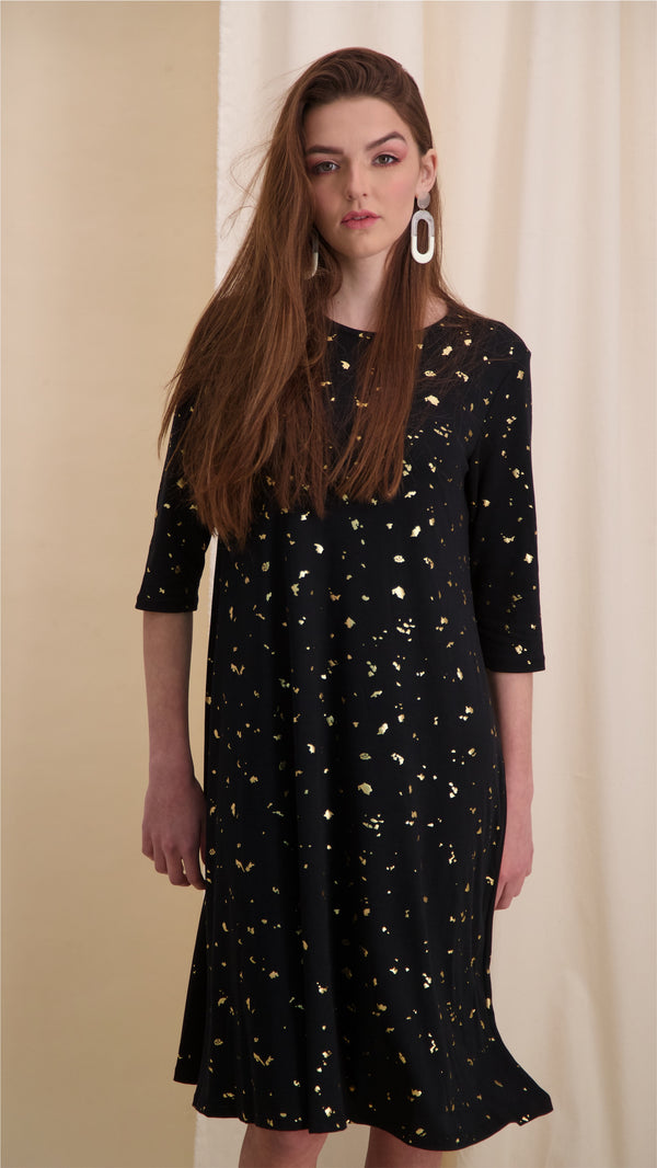 Collection Dress / Black & Gold Splash