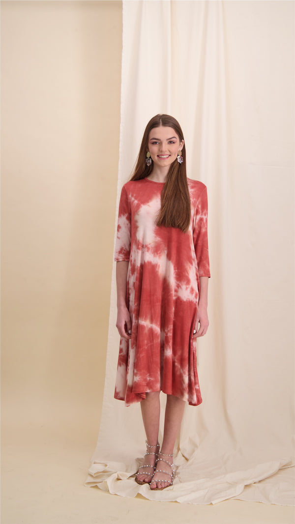 Collection Dress / Peach Tie Dye