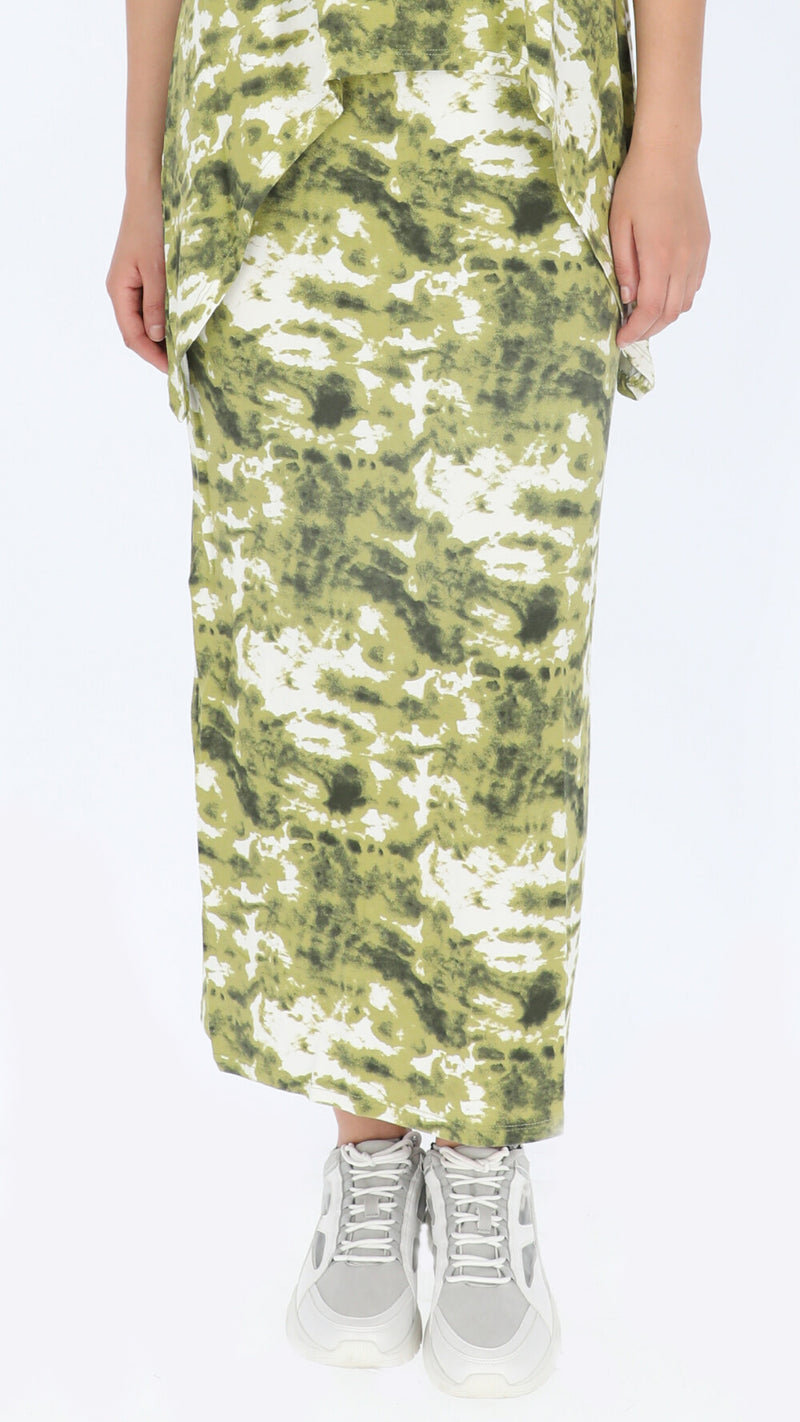 Maxi Skirt / Olive Tie Dye