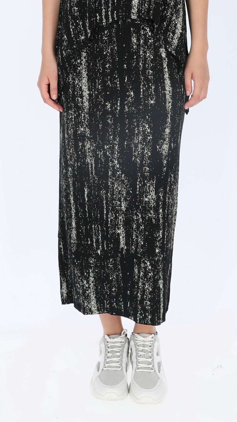 Maxi Skirt / Black Points