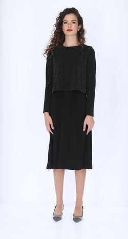 Shine Nursing Dress (with solid skirt)
