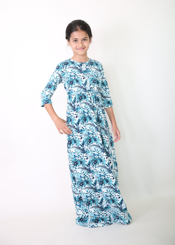 Maxi Dress Girls Version / Turquoise
