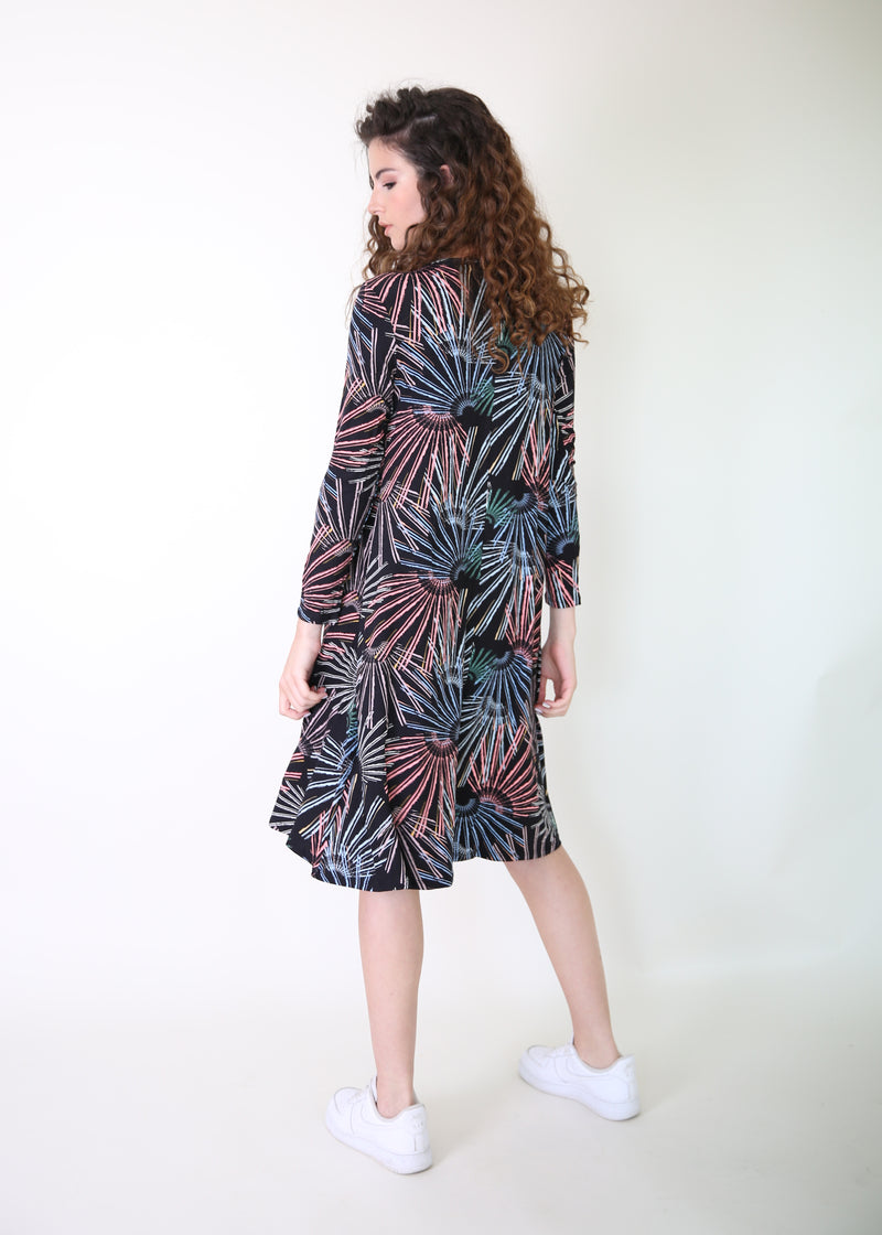 Collection Dress / Black Colorful Splash