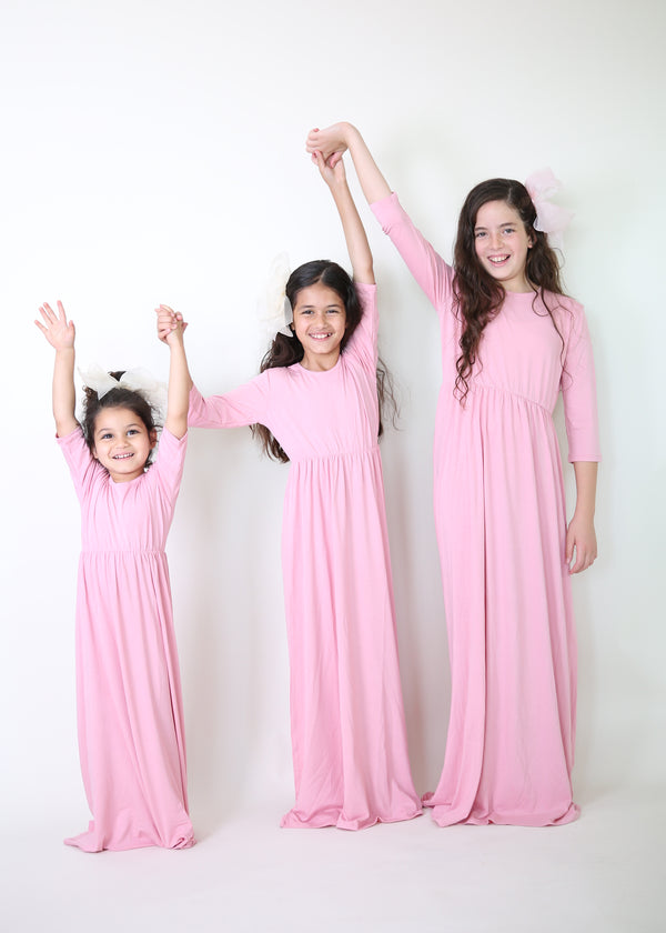 Maxi Dress Girls Version Solid Colors
