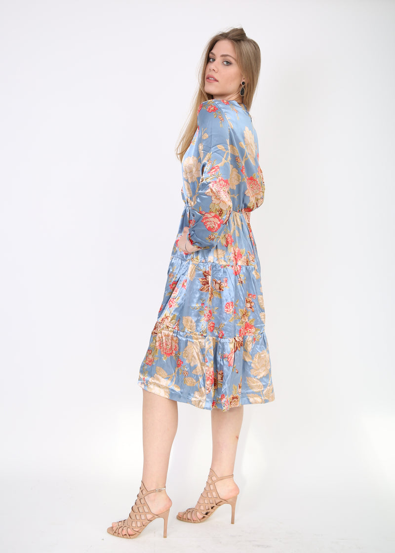 Layers Dress / Light Blue Flowers