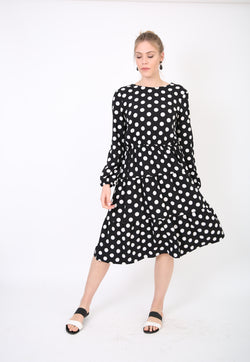 Layers Dress / Black Polka Dot