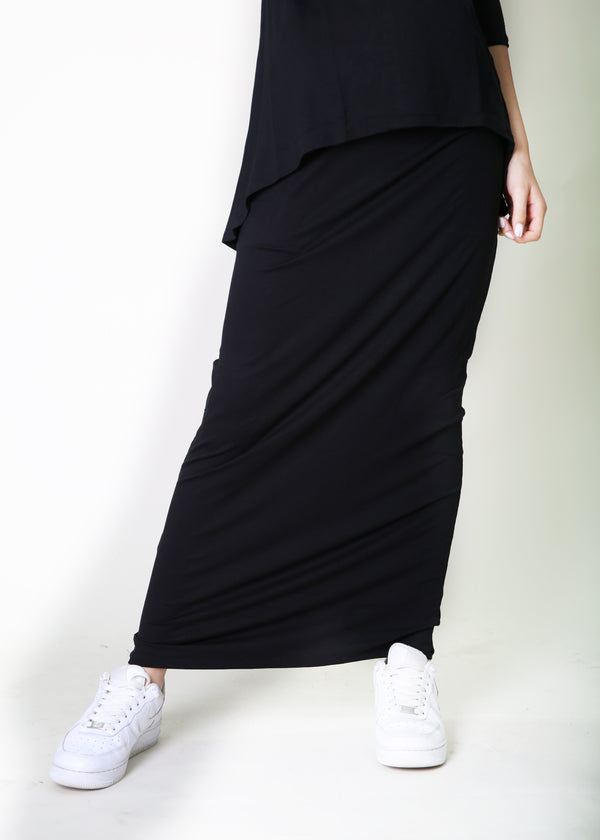 Solid Maxi Skirt / חצאית