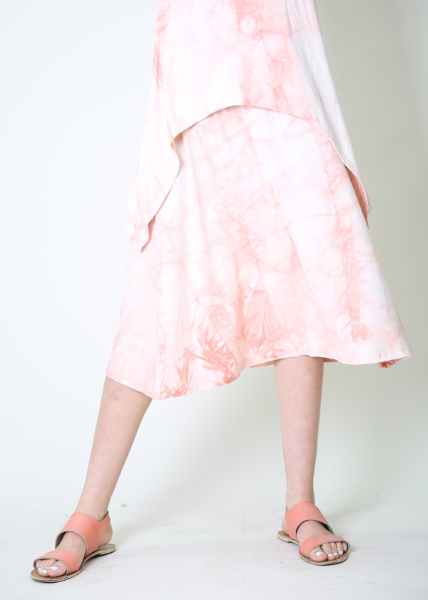 A-line Skirt / Pink Tie Dye