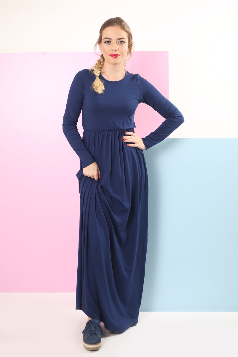 Belted Solid Maxi Dresses (more colors available)