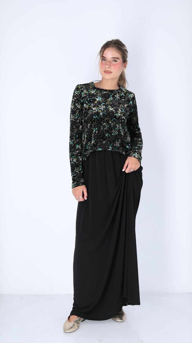 Maxi Nursing Dress / Velvet Flowers