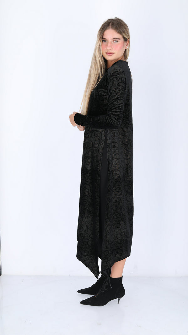 Velvet Asymmetric Dress / Paisley Gold Sparkle
