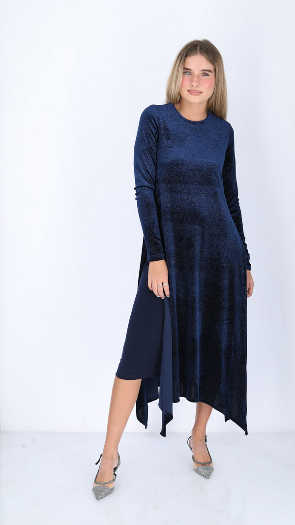 Velvet Asymmetric Dress / Sparkle