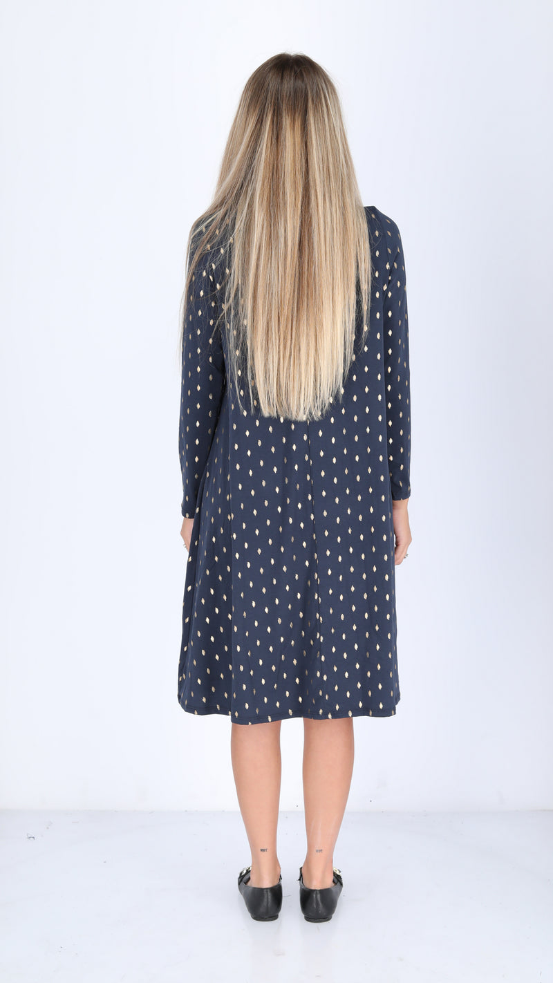 Collection Dress / Navy & Gold