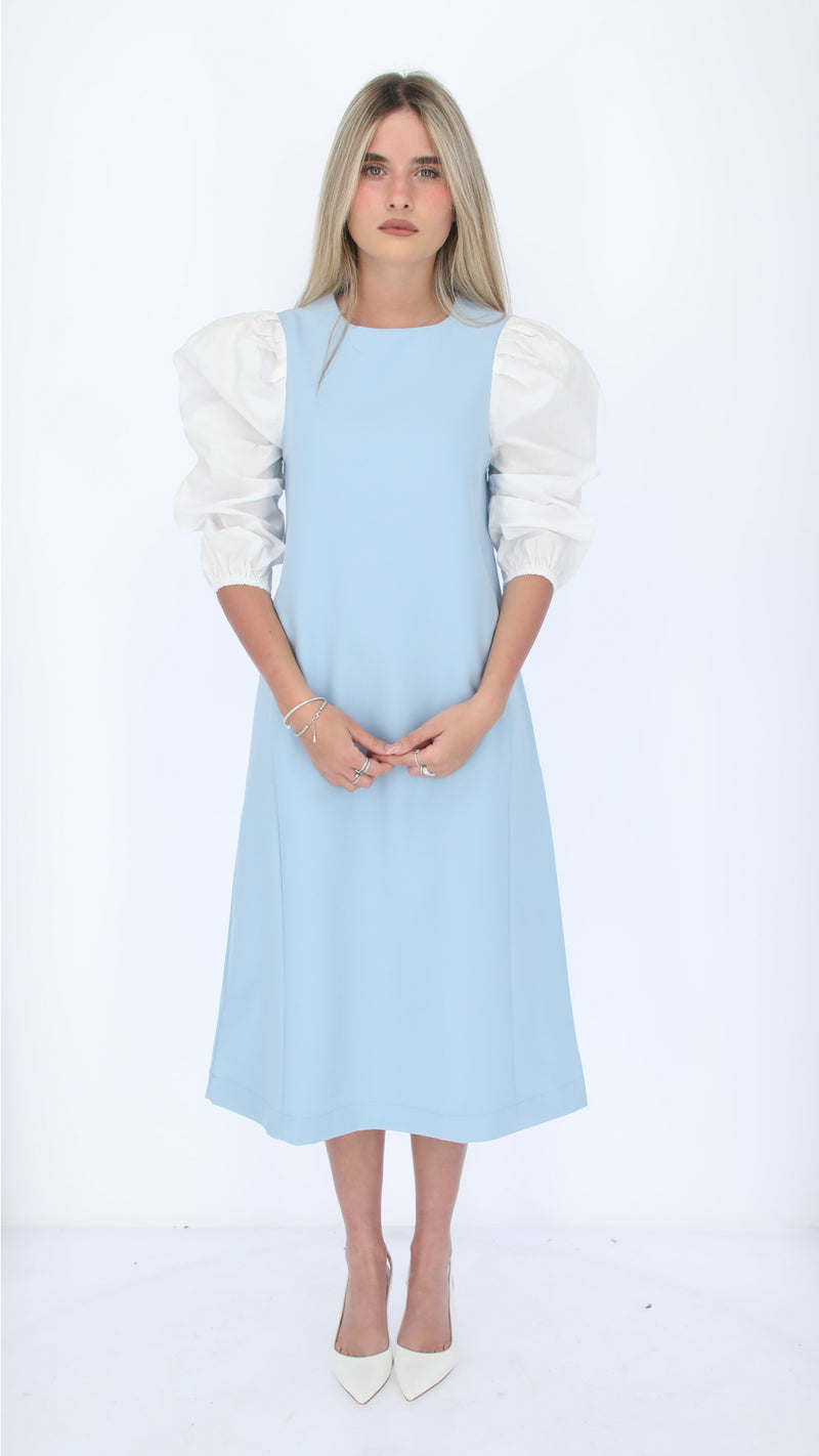 Nursing Puff Sleeve Dress