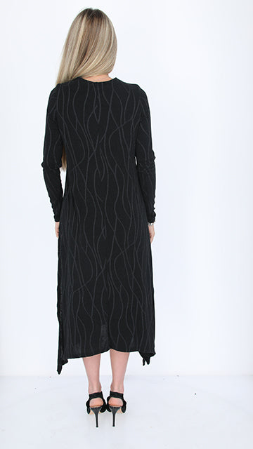 Shine Asymmetric Dress / Zig Zag