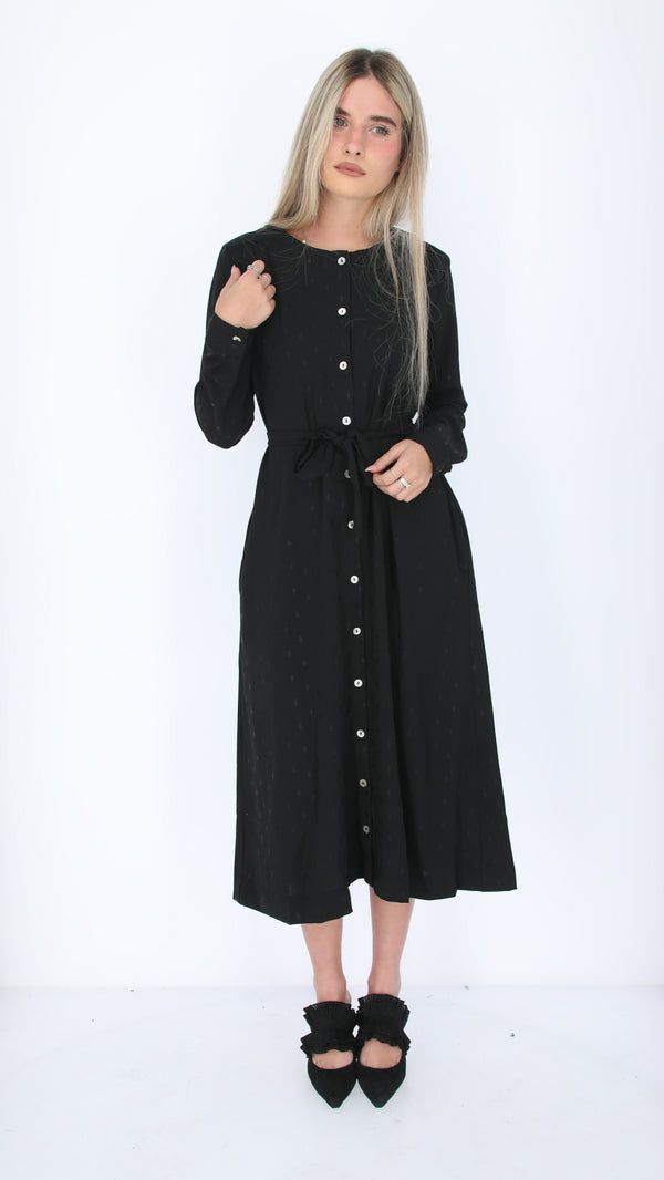 Button Dress / Black