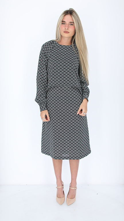 Dressy Nursing Dress / Black & White