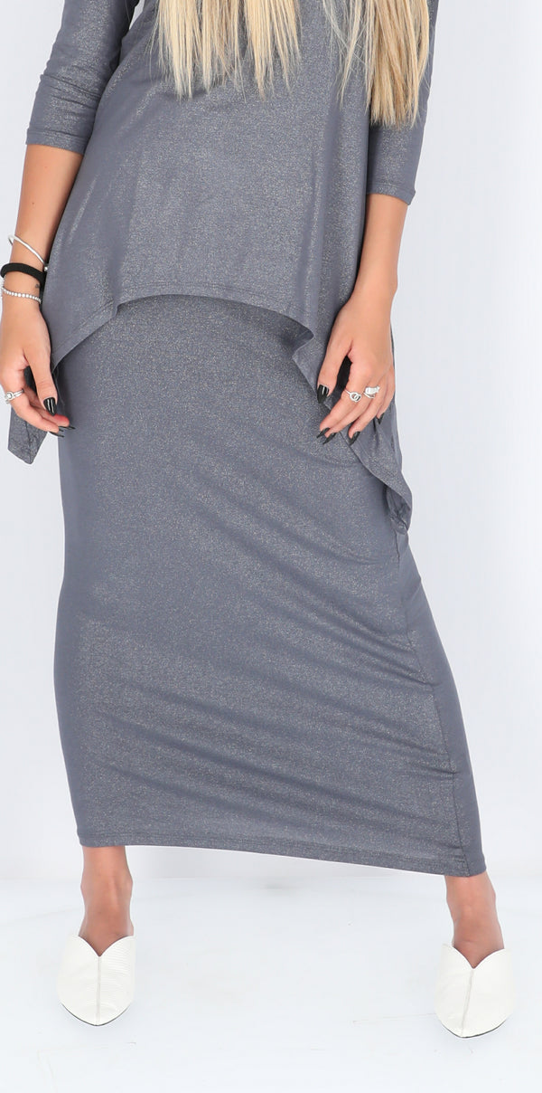 Maxi Skirt / Grey Sparkle