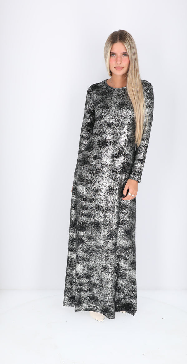 A-line Maxi Dress / Black Sparkle