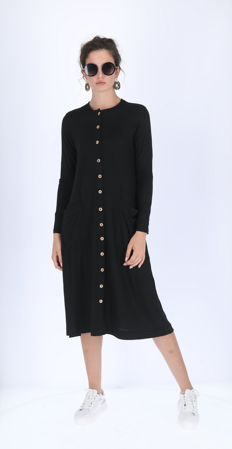 Ribbed Pocket Dress