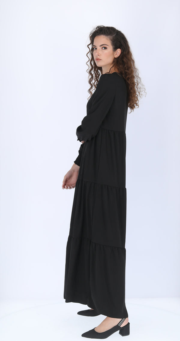 Maxi Layers Dress / Black