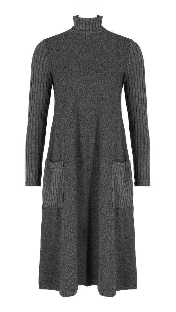 Turtleneck Pocket Dress