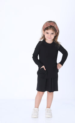 Girls Ribbed Pocket Set