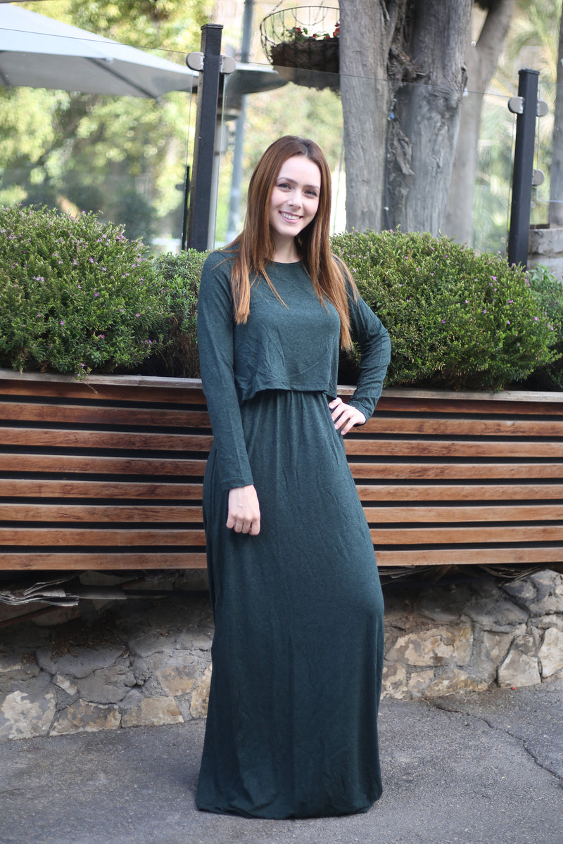 Solid Maxi Nursing Dress (more colors available)