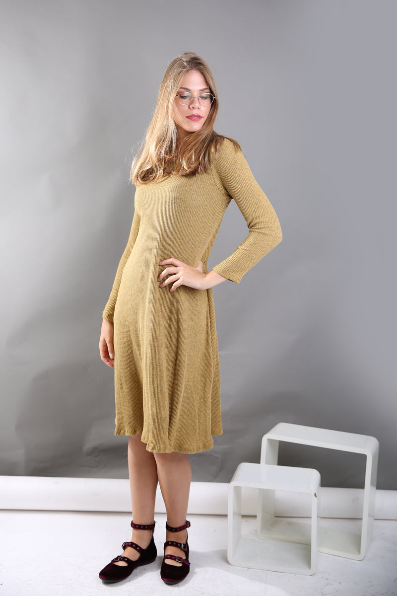Ribbed A-line Dress ( more colors available)