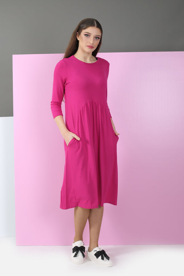 Waisted Cotton Dress ( more colors available)